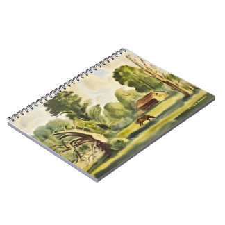 Woodman's House watercolor painting Notebook