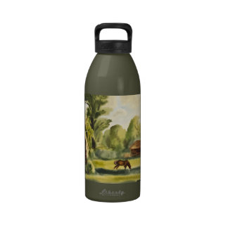 Woodman's House watercolor painting Drinking Bottle