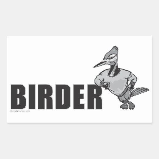 Woodpecker Bird Watching Rectangular Sticker