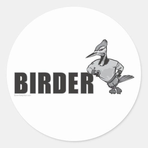 Woodpecker Bird Watching Round Sticker