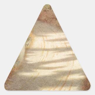 Woodpecker by Theodor Severin Kittelsen Triangle Sticker