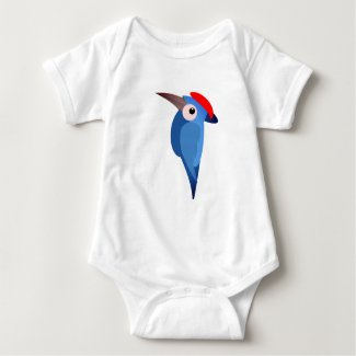Woodpecker design on Baby jersey suit Baby Bodysuit