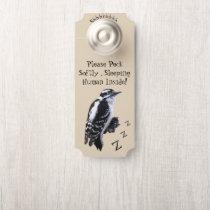 """Woodpecker """"Do Not Disturb"""" Door Hanger"""