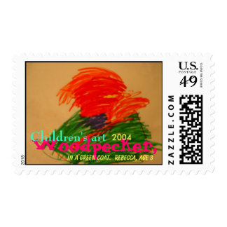 Woodpecker In A Green Coat - 2004 Postage Stamps