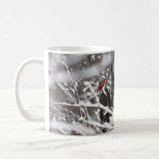 Woodpecker In Winter Coffee Mug