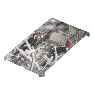 Woodpecker In Winter iPad Mini Cover