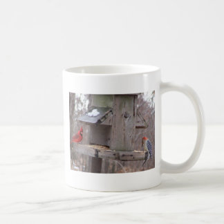 Woodpecker&Male Cardinal Coffee Mug