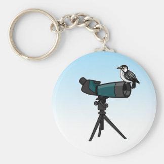 Woodpecker on Spotting Scope Keychain