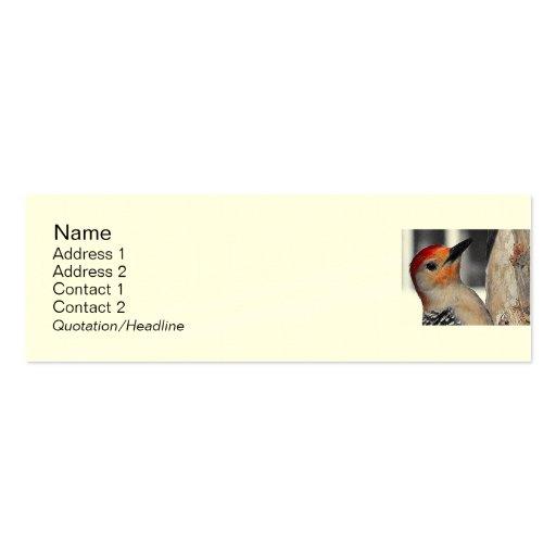 Woodpecker Portrait Business Card Templates