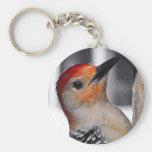 Woodpecker Portrait Key Chain