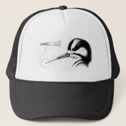 Trucker Hat with Woodpecker Tongue Anatomy design