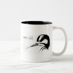 Two-Tone Mug with Woodpecker Tongue Anatomy design