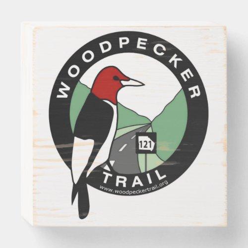 Woodpecker Trail Wood Sign