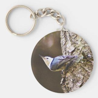 Woodpecker Tree Keychain