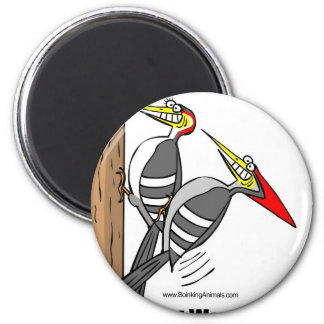 woodpeckers boinking, woodpeckers mating 2 inch round magnet