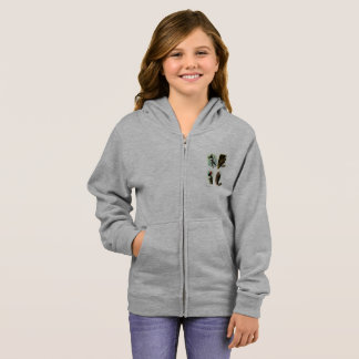 Woodpeckers Girl's Basic Zip Hoodie