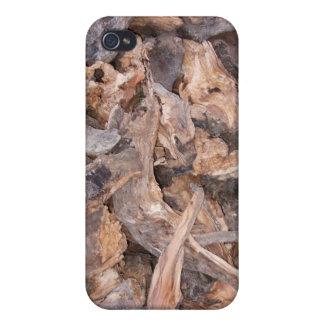 Woodpile en invierno iPhone 4 carcasa