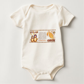 WoodRabbit zodiac 1975 born Cancer by Valxart Baby Bodysuit