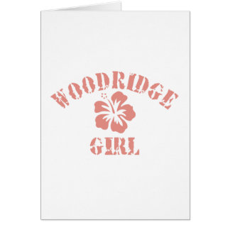 Woodridge Pink Girl Greeting Card