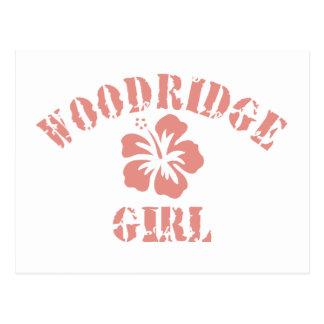 Woodridge Pink Girl Postcard
