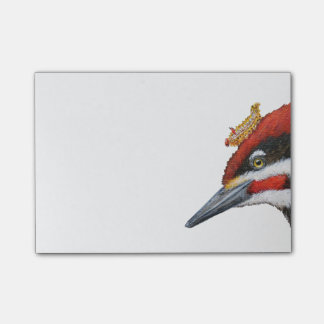 Woodrow the pileated woodpecker post-it notes