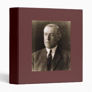 Woodrow Wilson 28th President 3 Ring Binder