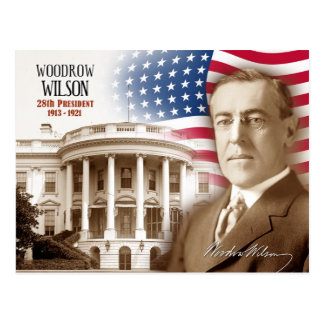 Woodrow Wilson - 28th President of the U.S. Postcard