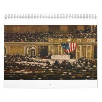 Woodrow Wilson asking Congress to Declare War Calendars