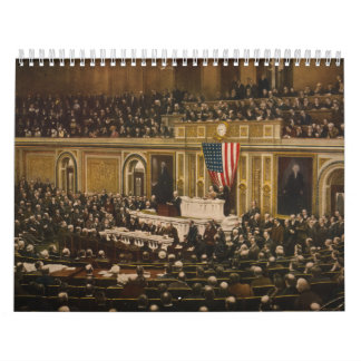 Woodrow Wilson asking Congress to Declare War Calendar