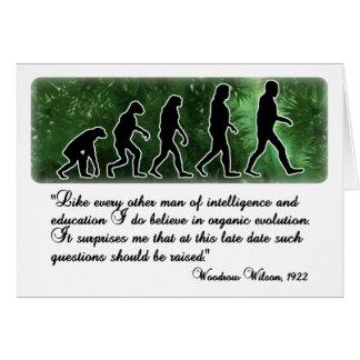 Woodrow Wilson on Evolution Greeting Card