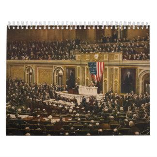 Woodrow Wilson que pide que el congreso declare Calendarios