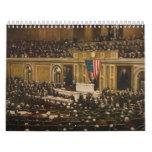 Woodrow Wilson que pide que el congreso declare gu Calendario De Pared