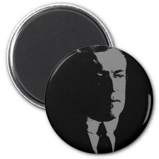 Woodrow Wilson silhouette 2 Inch Round Magnet