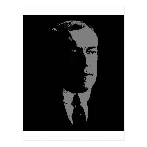 Woodrow Wilson silhouette Postcard