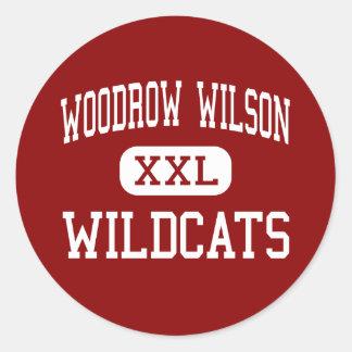 Woodrow Wilson - Wildcats - High - Dallas Texas Classic Round Sticker