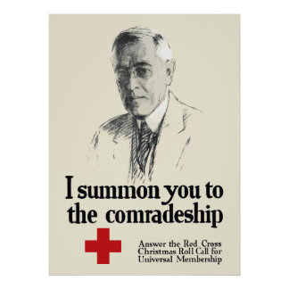 Woodrow Wison Red Cross Poster