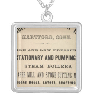 Woodruff and Beach Iron Works Silver Plated Necklace