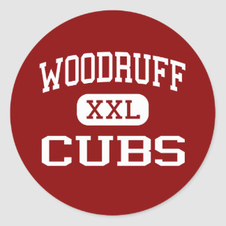 Woodruff - Cubs - Middle - Woodruff South Carolina Classic Round Sticker