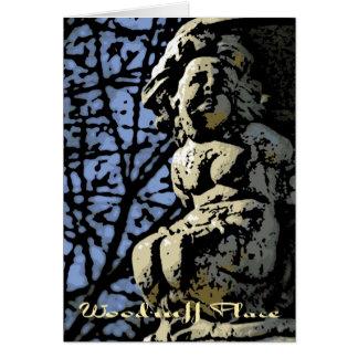 Woodruff Place Woodcut Card