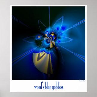 wood's blue goddess poster