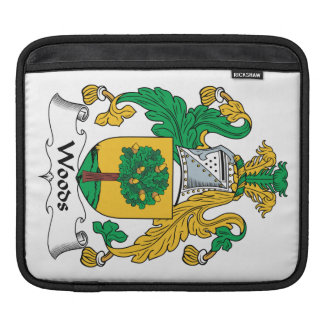 Woods Family Crest iPad Sleeves