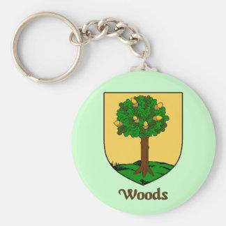 Woods Family Shield Keychain