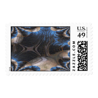 Woods Fractal At Night Postage