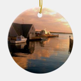 Woods Hole Harbor Christmas Ornament