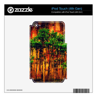 Woods iPod Touch 4G Decals