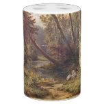 Woods Stream Heron Birds Wildlife Animals Bath Set