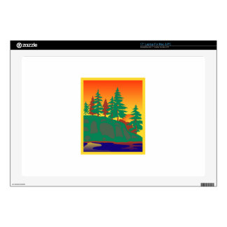 Woods & Water Scene Decal For Laptop
