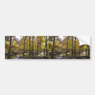 Woods with standing water car bumper sticker