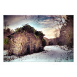 Woodshed in the Snow Photo Art