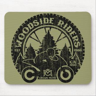Woodside Riders (vintage black) Mouse Pad